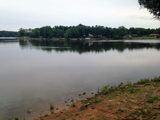 The water level on Broadway Lake fell about 5.5 feet below normal during a lengthy repair project of the Broadway Lake dam.