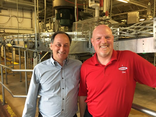 Mark Minunni. Genesee Brewery manager, and Mark Fabrizio,