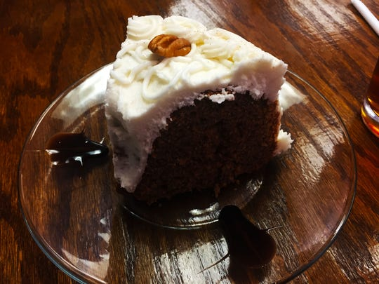 A slice of the pecan spice cake ($2.99) at Urban Cafe in Las Cruces.