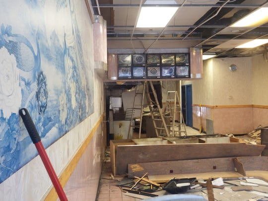 Inside the now closed Taste of China in Iowa City on May 26, 2017. The space was purchased by the owners of next door neighbor Sonny's Tap, who plan to expand into the space in order to make a sell food.