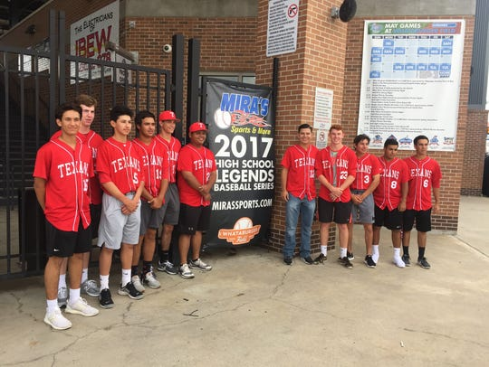 Ray Texans Baseball team comes out to Whataburger Field