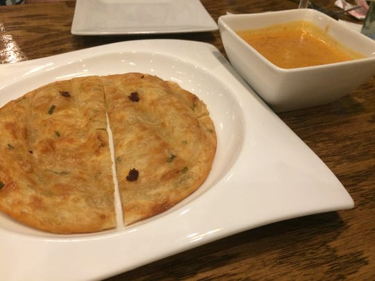 Scallion pancakes at Dao.
