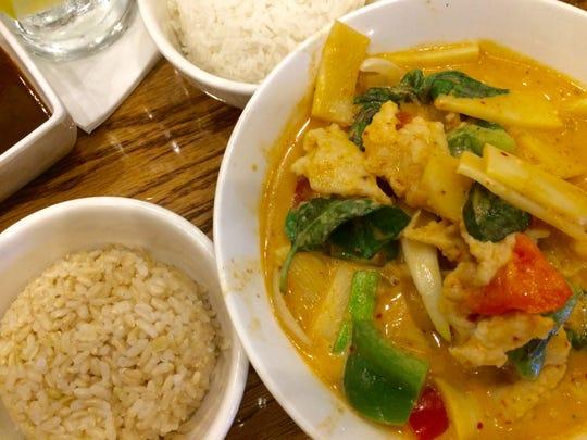Coconut chicken curry at Dao Restaurant.