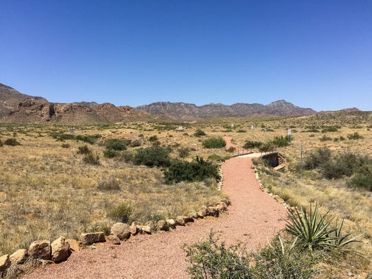 Trails outside the El Paso Museum of Archaeology offer views of 250 types of plant life from the Chihuahuan Desert.