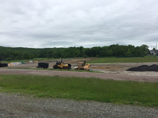 The developer of Cottonwood Crossing is staging equipment