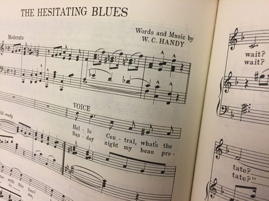 Sheet music for one of W.C. Handy's songs is on display at The Depot's welcome center on the Henderson Riverfront.