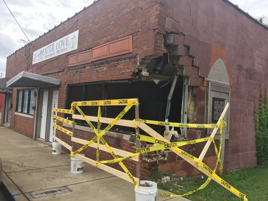 Greater Love Outreach Ministry was heavily damaged
