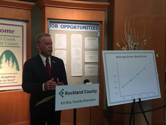 Rockland Executive Ed Day says the recent bond rating