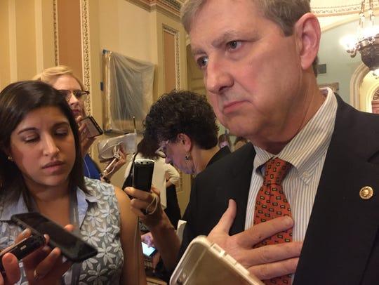 Sen. John Kennedy, R-La., has repeatedly spoken out against Gov. John Bel Edwards.