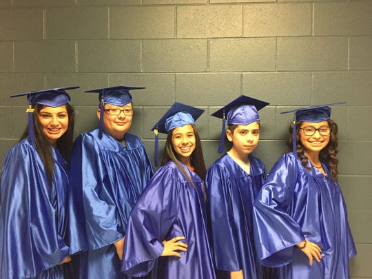 Bianca Villalobos (left to right), James Munos, Xandria Martinez, Jacob Longoria, Lauren Llamas