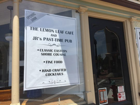 A sign posted recently in the window of the former