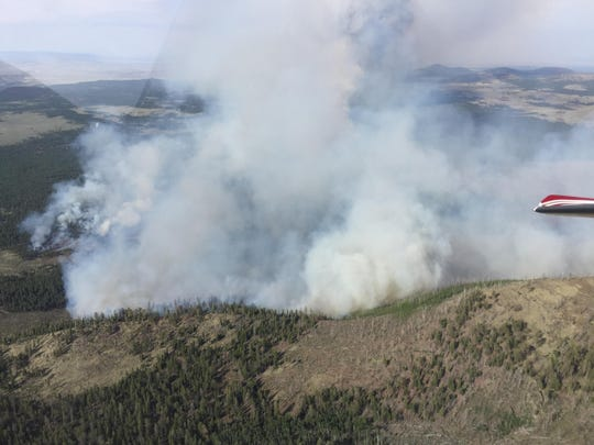 The view of Boundary Fire from an aircraft on Saturday,