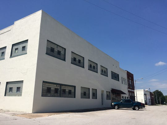 A 1940s-era factory in Marionville shown June 10, 2017, that filmmakers Corbin Timbrook and Shelby Janes plan to use in their feature movie set in the small Ozarks town.