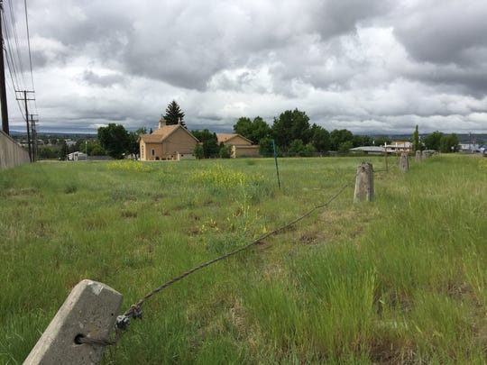 The land directly behind the Blessed Sacrament Church