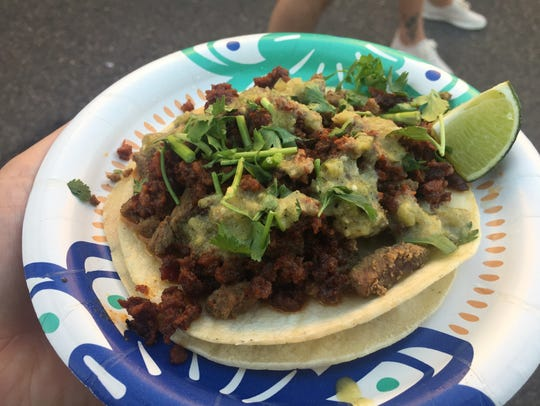 El Senor T's campechana taco is a mix of chorizo and