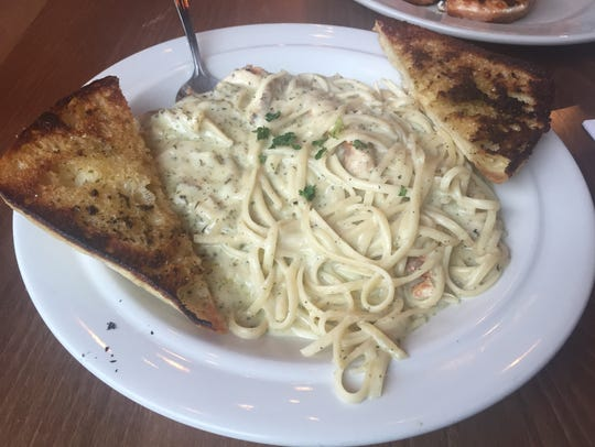 The Chicken Linguini Alfredo, which features a house-made