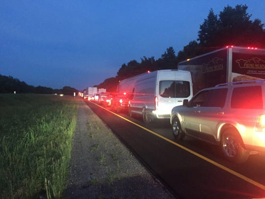 Traffic is backed up for miles after two Georgia fugitives