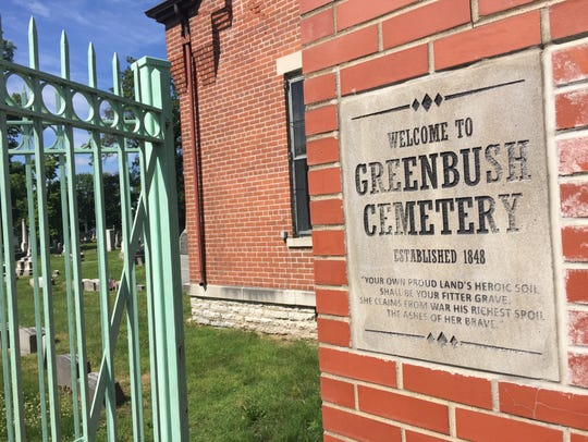 Greenbush Cemetery, established in the 1830s, has the