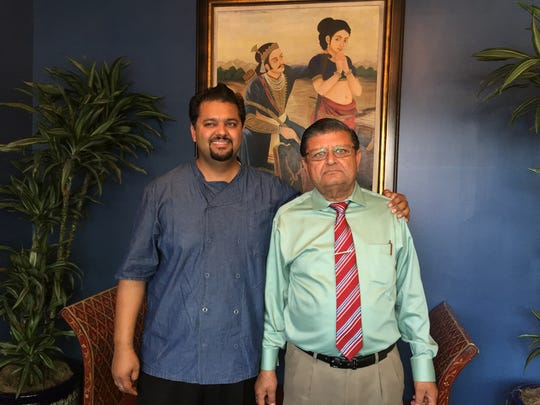 Raghu, left, and Suraj Kumar, co-owners of Indigo on Rehoboth Avenue.