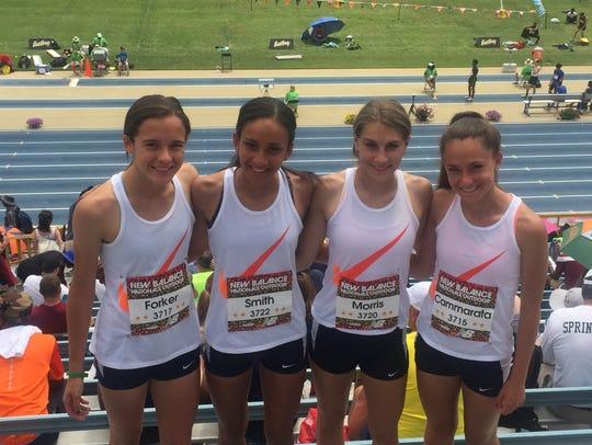 Roxbury's sprint medley broke the Morris County record