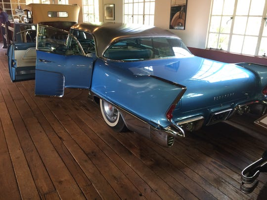 A 1957 Cadillac El Dorado Brougham at the Antique Car