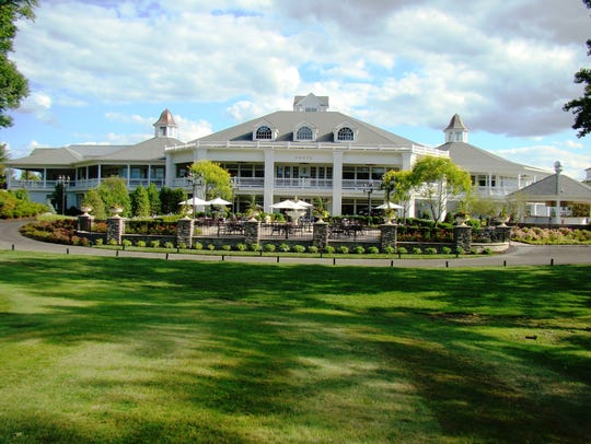 The clubhouse at Eagle Oaks Country Club in Farmingdale.