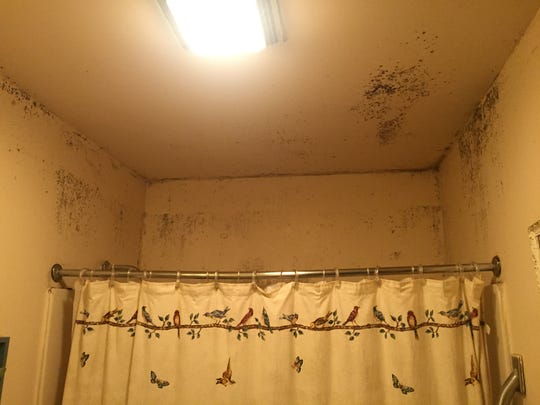 A bathroom inside a home on the Lac Courte Oreille Band of Lake Superior Chippewa reservation in Sawyer County.