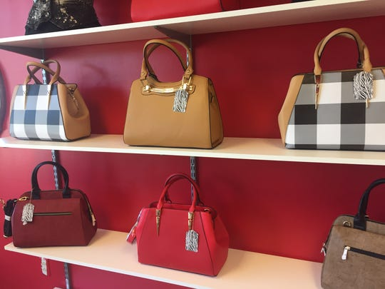 Some of the purses at Marie's Luxe in Gates