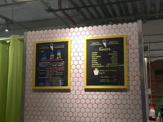 The new Icecycle Creamery in downtown Reno's West Street Market serves ice cream in sugar cones, cups or pints.