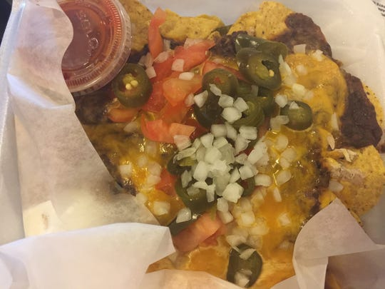 Loaded black bean nachos from Calypso Cafe on Charlotte Avenue in Nashville