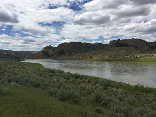 The Upper Missouri River Breaks National Monument near the Stafford-McClelland ferry crossing.