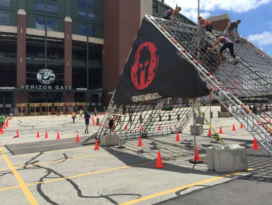 Some of the 21 obstacles along the 3-mile Spartan Sprint