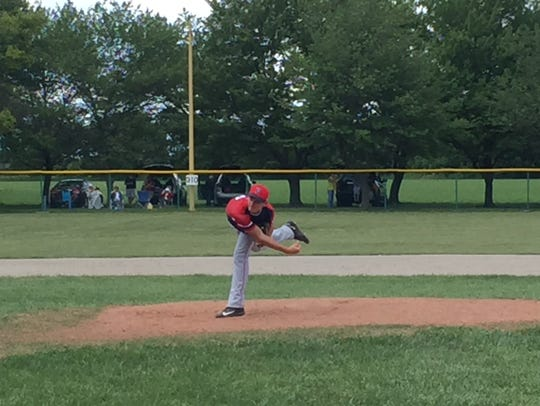 Pemberville's Tyler Wehrle (Lakota) throws a pitch