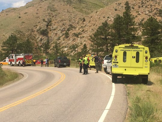 One man was airlifted after falling in to the Poudre