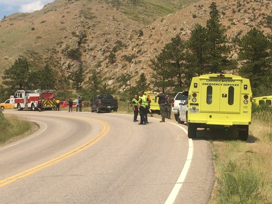 One man was airlifted after falling in to the Poudre River while rafting on Tuesday, June 27, 2017.