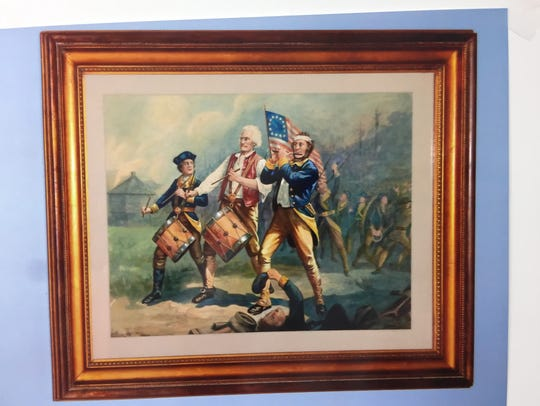 The watercolor copy of the famous painting owned by
