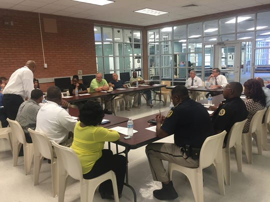 A group of about two dozen community and law enforcement leaders met at the Caddo Parish juvenile detention center on Wednesday to discuss juvenile crime in Shreveport.