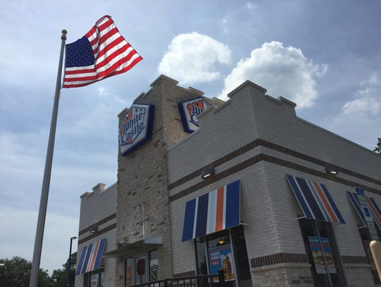 The outside of the reopened White Castle in Green Brook.