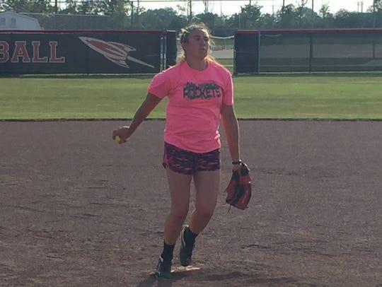Oak Harbor pitcher Ashley Riley wants to improve.