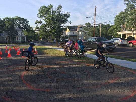 "This ""bike rodeo"" Thursday night was the first in a"
