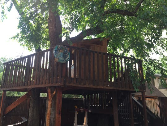 Avogadro's Number features a treehouse with a large