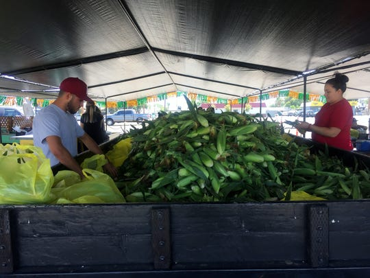 Gisler Farms sweet corn stand on 1616 W Olive Ave., Porterville is open Monday through Saturday from 9 a.m., until they sell out.  Each ear of corn is checked for quality before being bagged and sold to the customers.