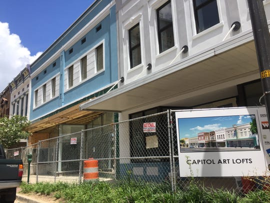 Construction is under way on the Capitol Art Lofts, with the first set of buildings set for completion at the end of this month, and the second set in September. The lofts are located across Capitol Street from the King Edward Hotel.