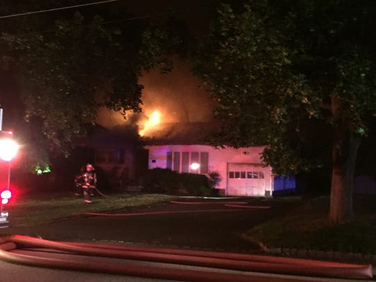 A fire seriously damaged an unoccupied Knollwood Drive