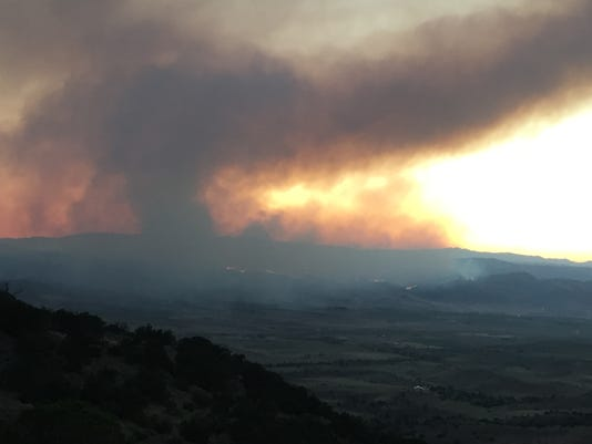Fire moves to Palomino Valley