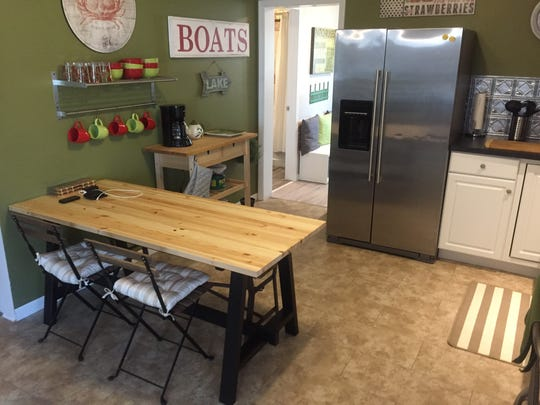 The kitchen of the renovated home at 1624 17th Street, that is now a short-term vacation rental in Port Huron.