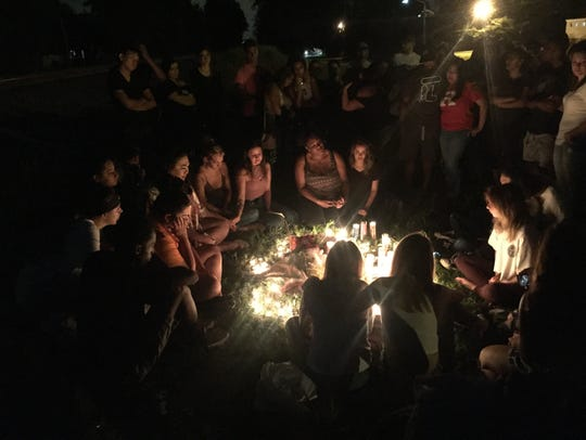 The candlelight vigil held for Asia Dixon in Manville