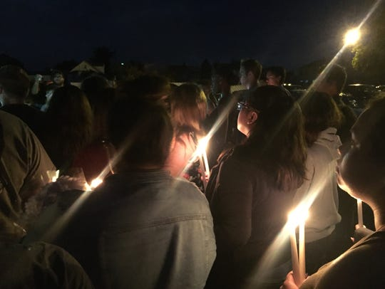 The candlelight vigil held for Asia Dixon.