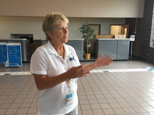 Airport manager Dawn Veatch says the new branding as