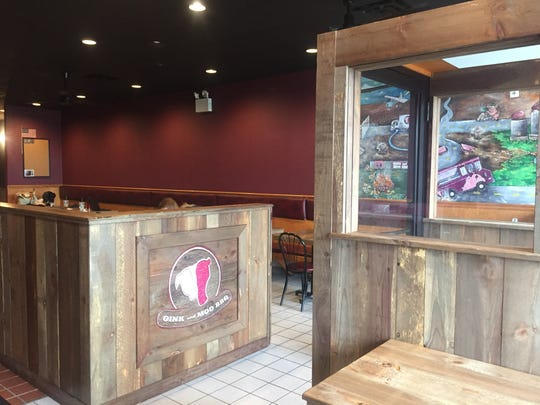 The entrance to the new Oink and Moo BBQ in Voorhees.
